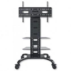"""Supporto da Pavimento Trolley con 2 Mensole per TV LCD/LED/Plasma DA 32"""" A 70'' VESA MAX 800X400"""