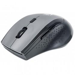 Mouse Ottico Wireless Curve Ergonomico 1600dpi, Nero/Grigio