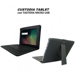 """Custodia Cover Stand per Tablet 8""""/9"""" Pollici UNIVERSALE con Tastiera Micro Usb"""