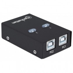 SWITCH SHARING DATA COMMUTATORE USB 2.0 AUTOMATICO 2 PORTE B FEMMINA x STAMPANTI SCANNER HARD DISK ecc...