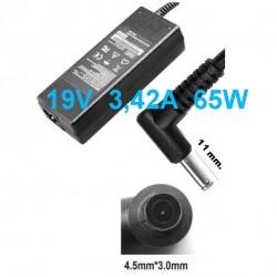 Alimentatore caricabatteria x Notebook ASUS 19V fino a 3,42A 65 WATT (4.5x3.0 mm.)