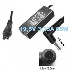 Alimentatore caricabatteria x Notebook HP 19,5V fino a 3,33A 65 WATT (4.5x3.0 mm.) + Cavo  di alimentazione