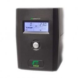 GRUPPO DI CONTINUTA' UPS ELSIST NEMO 2.0 120 -1200VA LCD + AVR LINE INTERACTIVE MONOFASE - USB+Software di gestione, Uscite: 4I