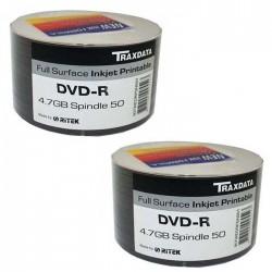 DVD-R TRAXDATA PRINTABLE 4.7GB 120MIN. confezione da 100