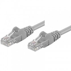 Cavo rete Ethernet Patch CCA Cat.5e U/UTP Grigio  1,0 mt