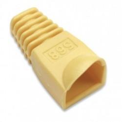 Confez. 10 Copriconnettori per Plug Copriconnettore RJ45 giallo