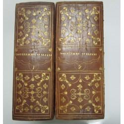 RACCOLTA DI NOVELLIERI ITALIANI Parte I (1833) e Parte II (1834) Ed. Borghi