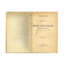 Diritto Civile Italiano, Prof. Giovanni Lomonaco (1911) Jovene - Napoli