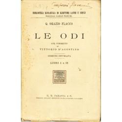 Q. Orazio Flacco. Le Odi libri I e II (1926) ed. Paravia