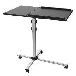 Tavolino Trolley Carrello Regolabile per Proiettore o Notebook, Nero