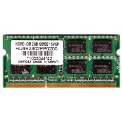 MEMORIA RAM SODIMM DDR3 2GB 1066mhz Elpida PC3-8500s HDDR3-1066 128MX8 1.5V per NOTEBOOK