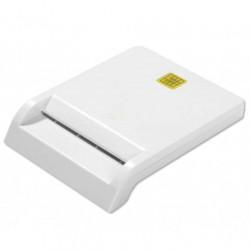 Lettore/Scrittore di Smart Card Usb 2.0 Bianco Compatto per Homebanking/Firma Digitale