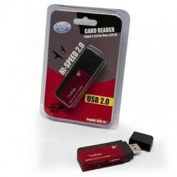 MULTICARD READER LETTORE USB per SCHEDE MEMORIA SD MICROSD MS MICROMS fino 64gb
