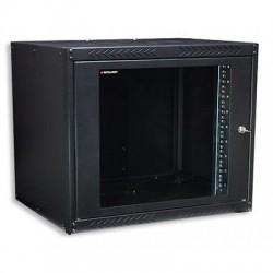 """Armadio rack 19"""" da muro 9 Unità 9HE Nero RAL 9005 prof. 450 mm da assemblare"""