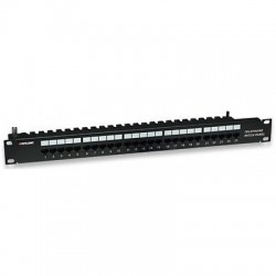 "Pannello  x Rack 19"" Patch Panel 12 porte RJ45 cat. 5E POE passivo ALIMENTATORE"