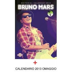 CALENDARIO 2014 BRUNO MARS + ADESIVI + QR CODE + OMAGGIO