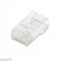 Confez. 10 Plug cat. 5E RJ45 per cavo UTP flessibile (slitta + plug)