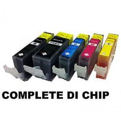CARTUCCE COMPATIBILI CANON 520+521 XL KIT  5 PEZZI