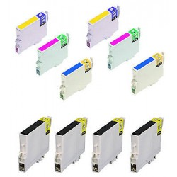 CARTUCCE COMPATIBILI EPSON SERIE T0550 (Paperella)  KIT 10 Colori