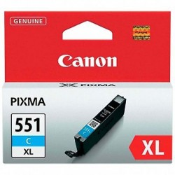 CARTUCCIA ORIGINALE CANON CLI-551C XL CIANO 15ml