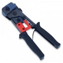 Pinza multifunzione per crimpare connettori rete RJ11, RJ12 e RJ45, sguainare e tagliare il cavo