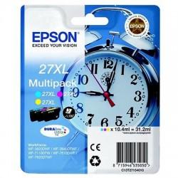 MULTIPACK ORIGINALE EPSON 3 COLORI 27 XL (Sveglia) C13T27154010