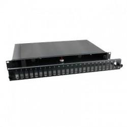 """Cassetto fibra ottica estraibile 19"""" predisposto per 12 bussole SC Duplex"""