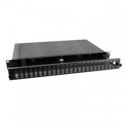 """Cassetto fibra ottica estraibile 19"""" predisposto per 24 bussole SC Duplex"""