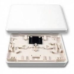 Micro Scatola di Distribuzione fibra ottica con Vassoio Porta Giunti Telecom 12p