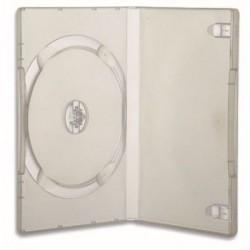 CUSTODIA BOX  PORTA DVD, BLU-RAY TRASPARENTE CONFEZIONE   5 PZ