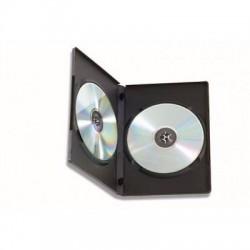 CUSTODIA BOX  PORTA DVD, BLU-RAY DOPPIA NERA CONFEZIONE  5 PZ