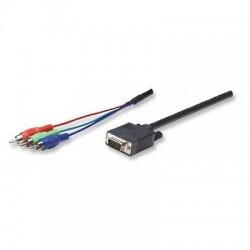 Cavo Monitor HDTV VGA a RGB component 1,8 mt