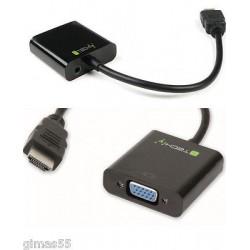Cavo Convertitore adattatore da HDMI a VGA FEMMINA + AUDIO 3.5