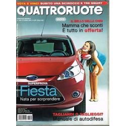 Quattroruote 636-2008 Ford Fiesta 1.2 e1.4-Fiorino Qubo-Seat Altea-Mercedes B170