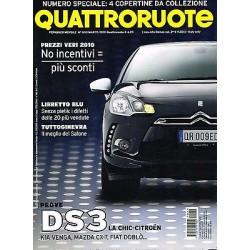 Quattroruote 653-2010 Citroen DS3-Fiat Sedici e Doblò-Mazda CX7-Kia Venga