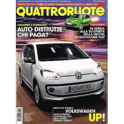 Quattroruote 674-2011 Wolkswagen Up!-Chevrolet  Volt-Mini coupè-Renault Koleos