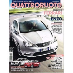 Quattroruote 680-2012 Seat Ibiza-Toyota Yaris-Kia cee'd-Mini Countryman