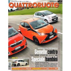 Quattroruote 706-2014 Citroen C1 e DS5-Peugeot 108-Toyota Aygo-Volvo V60-BMW X4