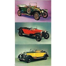 Set 3 Cartoline Postcard auto Roll-Royce 20-25 HP, Lancia Lambda. Renault FK