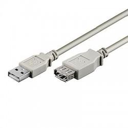 CAVO USB 2.0 PROLUNGA A-A M/F 3 mt. GRIGIO