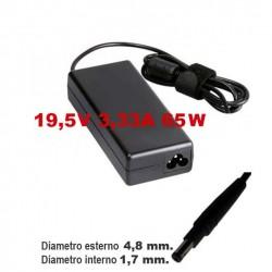 Alimentatore caricabatteria x Notebook HP / Compaq 19,5V fino a 3,33A 65W 4,8x1,7mm