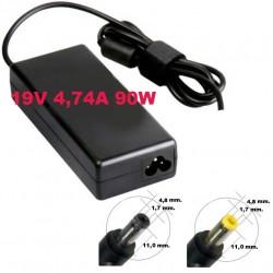 Alimentatore caricabatteria x Notebook HP / Compaq 19V fino a 4,74A 90W 4,8x1,7mm