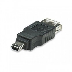 ADATTATORE USB A FEMMINA / MINI B MASCHIO