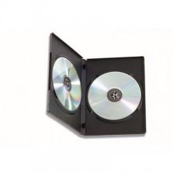 CUSTODIA PER DVD/BLU-RAY NERA DOPPIA CONFEZIONE 100 PZ