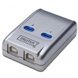 SWITCH SHARING DATA COMMUTATORE USB 2.0 2 PORTE B FEMMINA PER SCANNER STAMPANTI HDD ECC.