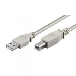 CAVO USB 2.0 A/B MASCHIO/MASCHIO 3  MT.  GRIGIO