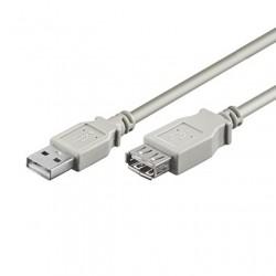 CAVO USB 2.0 PROLUNGA A-A M/F 1,8 GRIGIO
