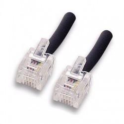 Cavo telefonico RJ11 6 Poli 4 Contatti  3 mt  Telefono/Modem/Router/Fax