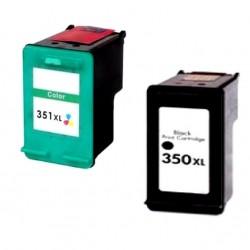 CARTUCCE RIGENERATE COMPATIBILI HP350XL+ HP351XL NERO+COLORI