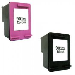 CARTUCCE RIGENERATE COMPATIBILI HP 901 XL NERO + COLORI